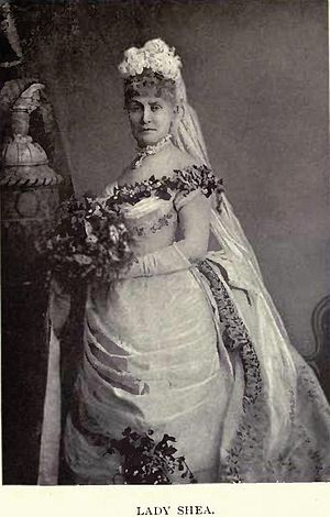 Ambrose Shea - Lady Louisa Shea in the costume worn by her when presented at court by Elliott & Fry