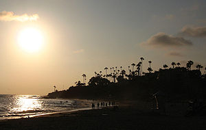 Sunset in Laguna Beach, California.