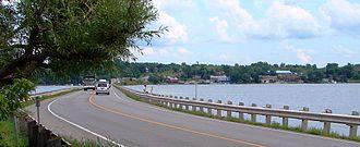 Selwyn, Ontario - Chemong Lake with Bridgenorth in background