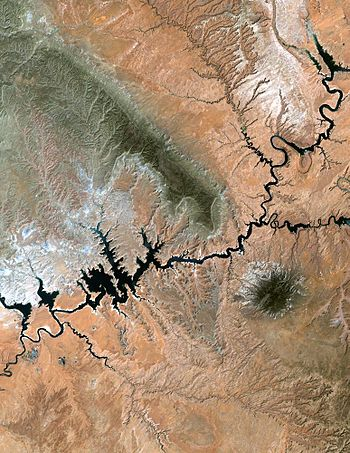 Lake Powell, Utah from NASA