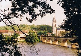 View of Lalinde and the Dordogne River