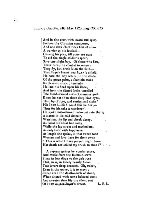 page landon in literary gazette 1823 pdf 71 wikisource the free