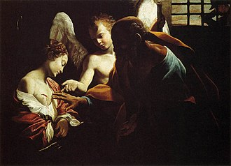 Agatha of Sicily - Saint Peter Healing Agatha, by the Caravaggio-follower Giovanni Lanfranco, ca 1614