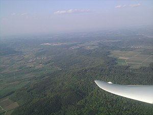 Aerial view Long Mile from the southwest