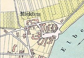 Floor plan from 1865: The village is laid out as a circular structure