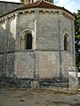 Apsis der Kirche St-Pierre in Lansac