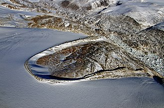 Auyuittuq National Park - Image: Lateral Moraines at Margins of Penny Ice Cap