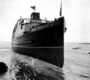 RMS Lady of Mann - Lady of Mann is launched at Barrow-in-Furness