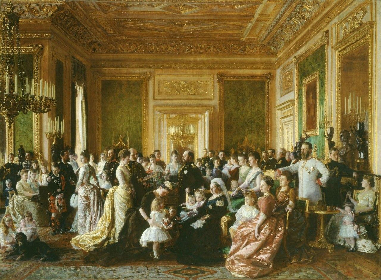 Лауриц Регнер Туксен (1853-1927) - Семья королевы Виктории в 1887 году - RCIN 400500 - Royal Collection.jpg
