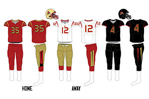 Laval Rouge et Or - Image: Laval uniforms