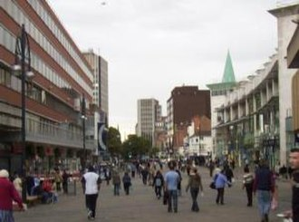 A47 road - Humberstone Gate in Leicester (ex-A47)