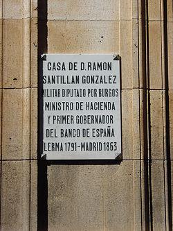 Lerma (Burgos, España). Casa de Ramón Santillán González, primer gobernador del Banco de España.