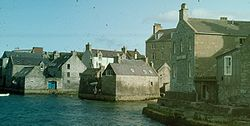 Lerwick, main port in the Shetland Islands
