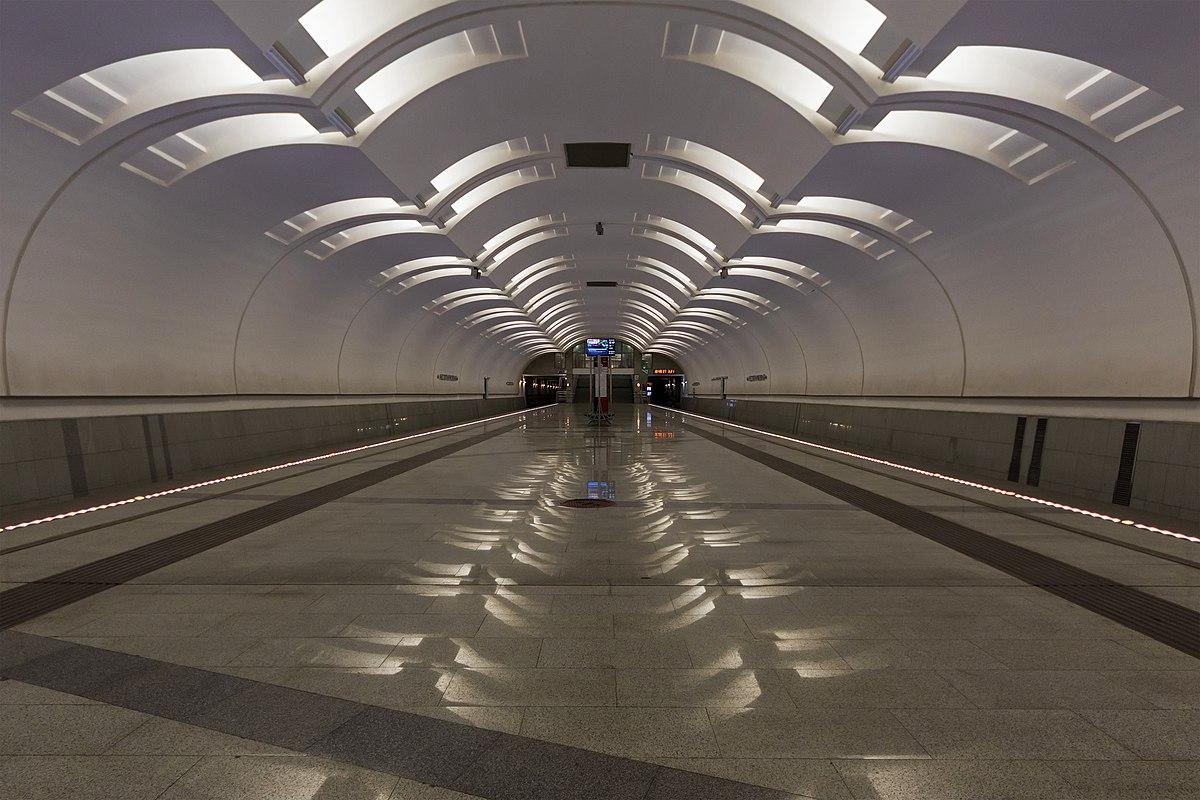 Station Lermontovsky Prospekt. Metro stepped behind MKAD