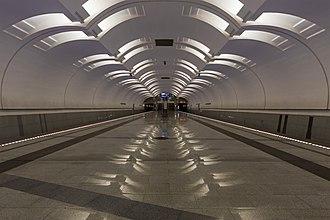 Lesoparkovaya - Image: Lesoparkovaya Mos Metro station 01 2015