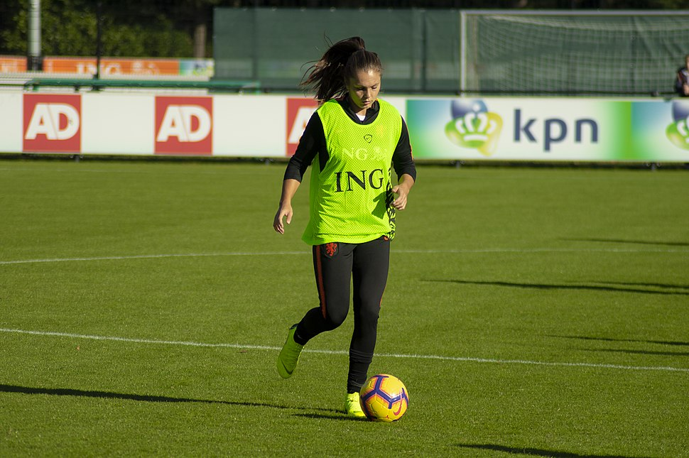 Lieke Martens training with Netherlands in 2018