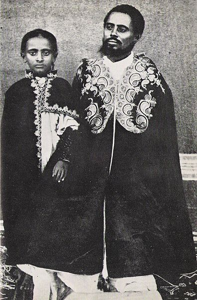 File:Lij Teferi and his father, Ras Makonnen.jpg