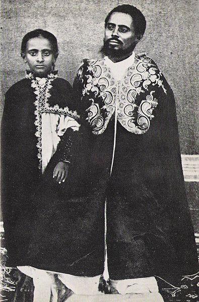 File:Lij Teferi and his father, Ras Makonnen.jpg