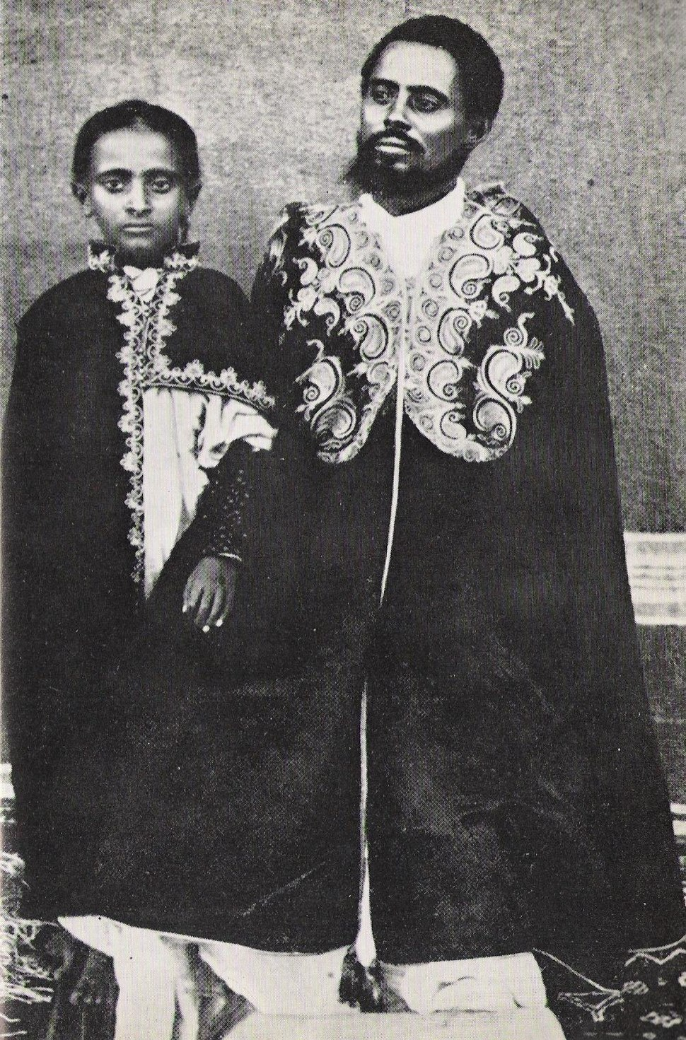 Lij Teferi and his father, Ras Makonnen