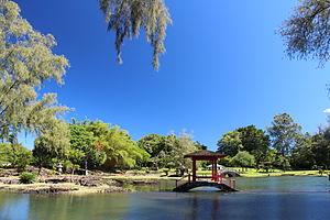 Liliuokalani Park and Gardens - Pagoda and Torii in Liliu'okalani Gardens