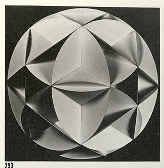 Robert Williams (geometer) -  Photo of intersecting small circuit boundaries that form the conceptual basis for Catenatic Geometry.