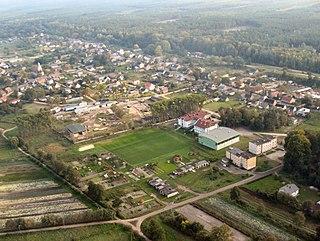 Lipki Wielkie Village in Lubusz, Poland