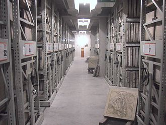 Geodesy - A Munich archive with lithography plates of maps of Bavaria