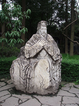 Liu Bei - Statue of Liu Bei in Zhuge Liang's temple in Chengdu