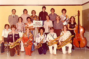 Matt Finders - Matt Finders as a member of the Livermore High School Jazz Band