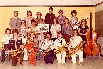 Matt Finders - Matt Finders as a member of the Livermore High School Jazz Band