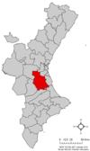 Localització de la Ribera Alta respecte del País Valencià.png