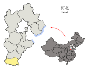 Location of Handan Prefecture within Hebei (China).png