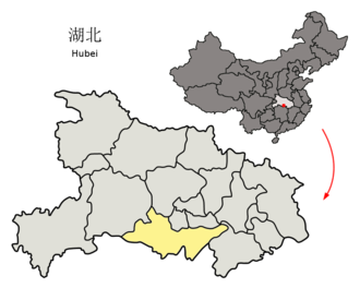 First Encirclement Campaign against the Honghu Soviet - Location of Jingzhou