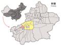 Location of Kalpin within Xinjiang (China).png