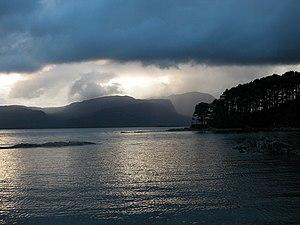 Loch Carron - Looking across Loch Carron to the Applecross peninsula.