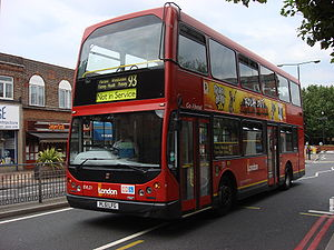 London Buses route 93 - London General East Lancs Vyking bodied Volvo B7TL in Morden in July 2008
