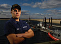 Long Island, NY (Jan. 10, 2007) -Coast Guard Petty Officer 3rd Class Andrew J. Enos, from Londonderry, NH, a member of Coast Guard Station Eatons Neck, on Long Island, NY, Jan. 10, 2006 060110-G-GK347-001.jpg
