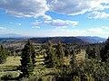 Looking down (S) at Valles Calderas National Preserve from Pajarito Mountain, backside of Ski area, Los Alamos, NM - panoramio (1).jpg