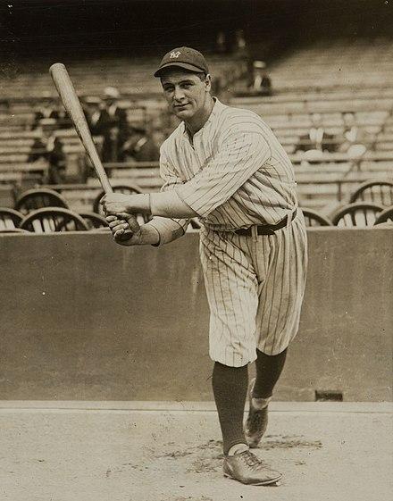 Lou Gherig On Deck New York Yankees Historic Baseball Photo Metal Sign