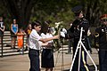 Loudon Day School lays a wreath at the Tomb of the Unknown Soldier in Arlington National Cemetery (26415404942).jpg