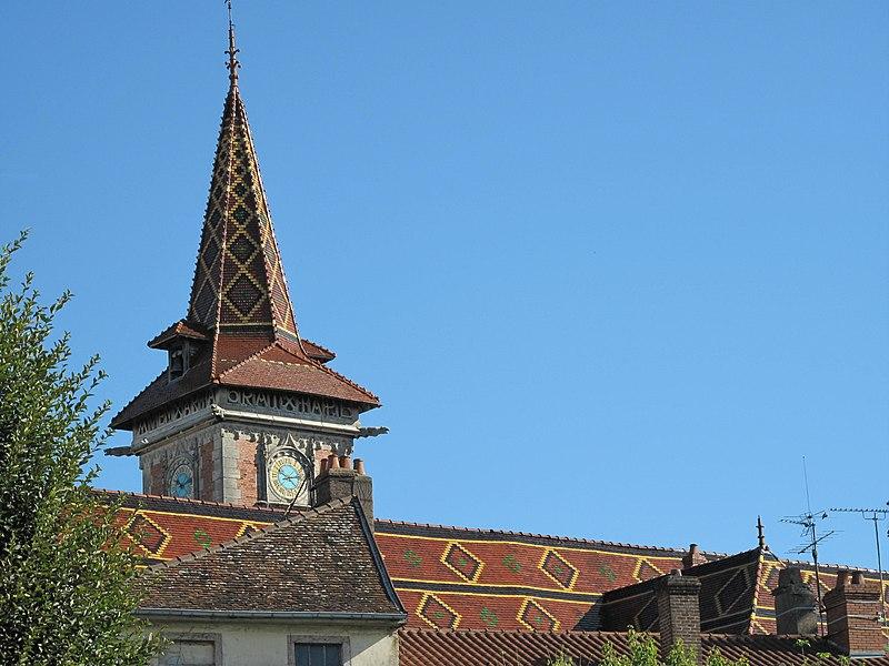 Roof of the Saint-Peter church of Louhans: Saône et Loire France