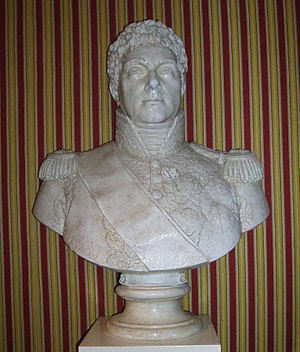 Louis Berthier excelled as Napoleon's chief of staff, but as army commander, he fumbled. Louis-Alexandre Berthier bust (Chateau de Chambord).jpg