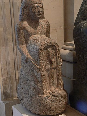 Yuyu (High Priest of Osiris) - Naophoros statue of Yuyu in the Louvre.