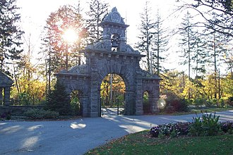 Lowell Cemetery - Gate, Lawrence Street