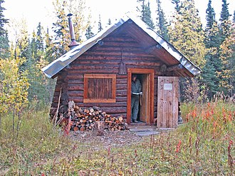 National Register of Historic Places listings in Denali Borough, Alaska - Image: Lower Savage Patrol Cabin