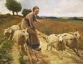 Luplau Janssen - En Pige med nogle Faar - 1897.png