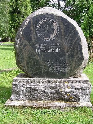 Lydia Koidula - Memorial stone for Lydia Koidula at her birthplace near Vändra