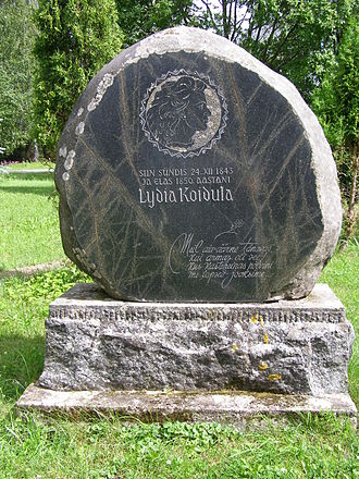 Lydia Koidula - Memorial stone for Lydia Koidula at her birthplace near Vändra