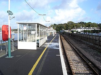 Lymington Pier railway station - Image: Lymington Pier Station