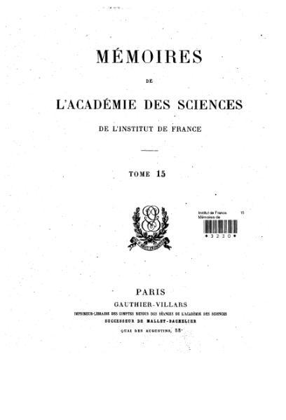 File:Mémoires de l'Académie des sciences, Tome 15.djvu